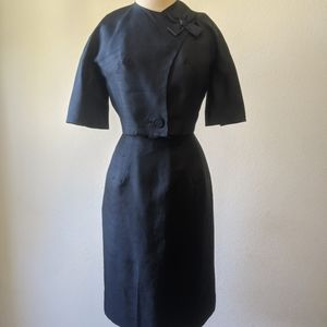 Vintage crushed silk Jay Herbert wiggle dress